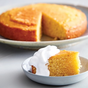Honey, Polenta and Yoghurt Cake