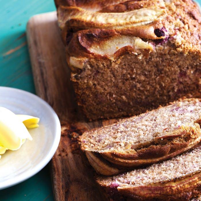 Banana, Pear & Raspberry Bread