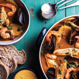 Spicy Fish Soup with Rouille
