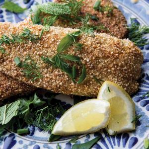 Quinoa-Crumbed Fish with Citrus Salt