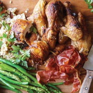 Roast Chicken with Barley