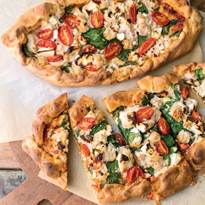 Chicken, Spinach & Feta Pide