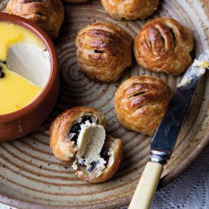 Eccles Cakes with Potted Stilton