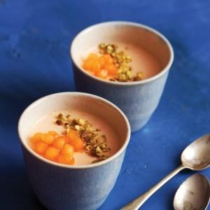 Melon Mousse with Yoghurt & Honey